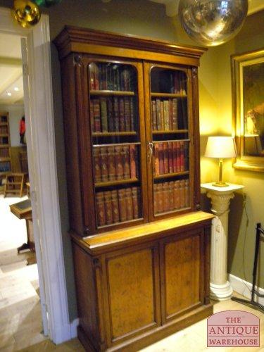 kleine eiken Victoriaanse boekenkast VERKOCHT - Antique Warehouse