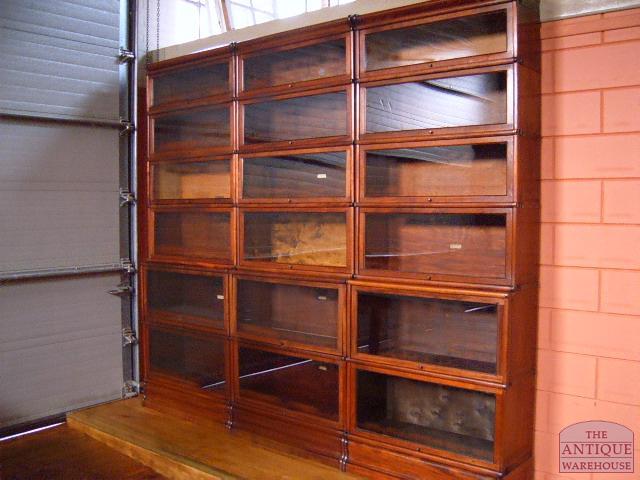 antieke mahonie boekenkast drievoudig antieke mahonie boekenkast