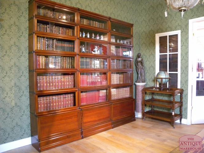 verkocht antieke mahonie globe wernicke boekenkast verkocht