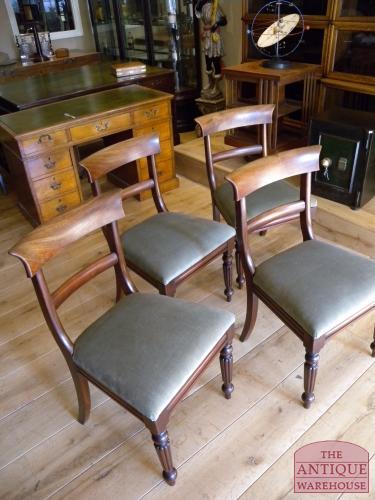 Antieke set stoelen 4 circa 1820 verkocht antique for Horeca tafels en stoelen te koop