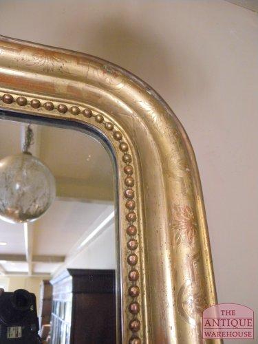 antieke spiegel vergulde lijst