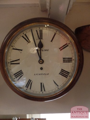 antique fusee English pubclock
