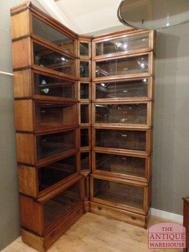 antique corner Globe Wernicke bookcase