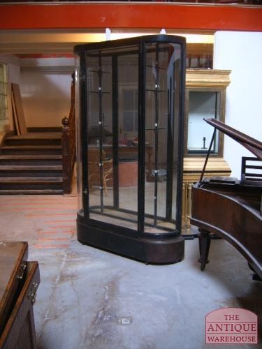 bowfronted vitrine